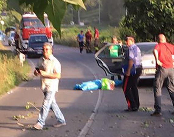 morto alla guida travolto da un albero