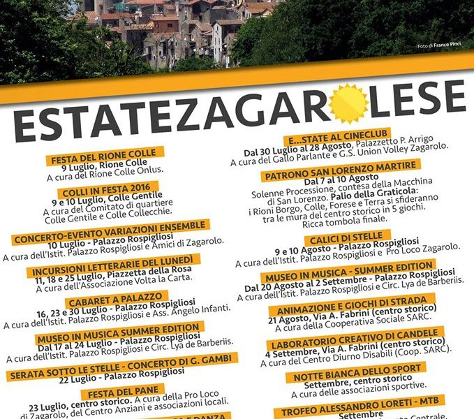 Programma Estate Zagarolese